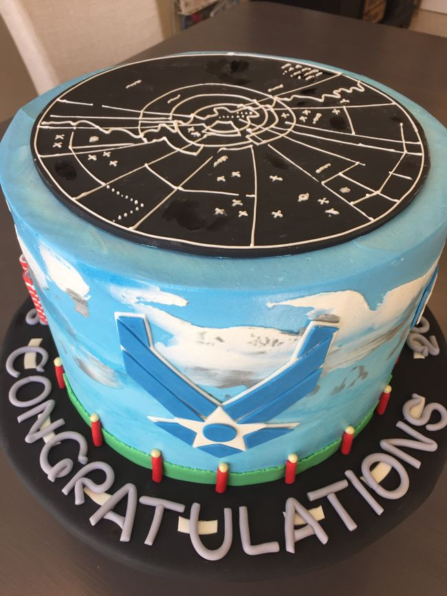 Air force graduation cake